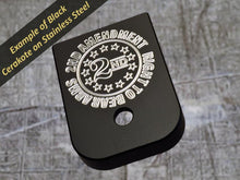 Milspin American made engraved mag back plate 04