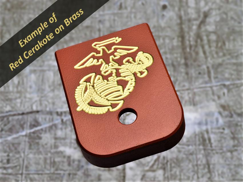 MILSPIN engraved mag base plate with USMC insignia 05