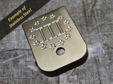 MILSPIN engraved mag base plate with Patriotic insignia
