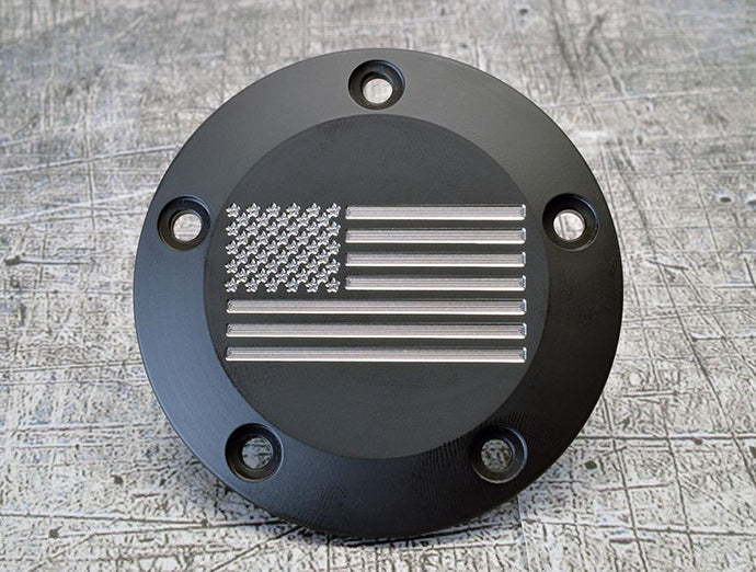 American Flag insignia Harley Davidson custom points covers