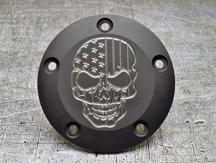 Harley Davidson skull engraved points cover