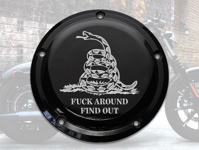 Milspin F*ck Around Find Out Harley Davidson Derby Cover