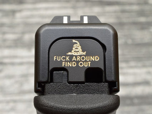 Fuck Around and Find Out Slide Back Plate