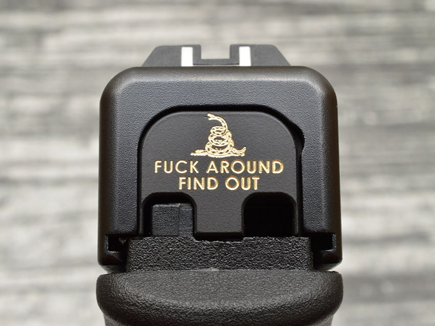 Milspin F*ck Around Find Out Slide Back Plate
