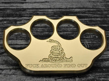 3/4lb Solid Brass Patriot Engraved Paperweight (Over 100 Emblems)
