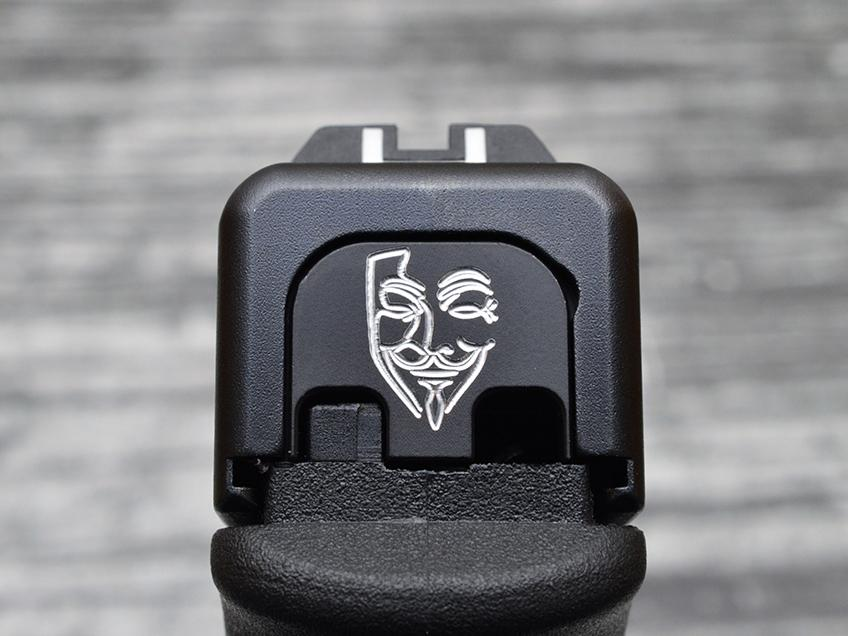 Guy Fawkes Anonymous Slide Back Plate