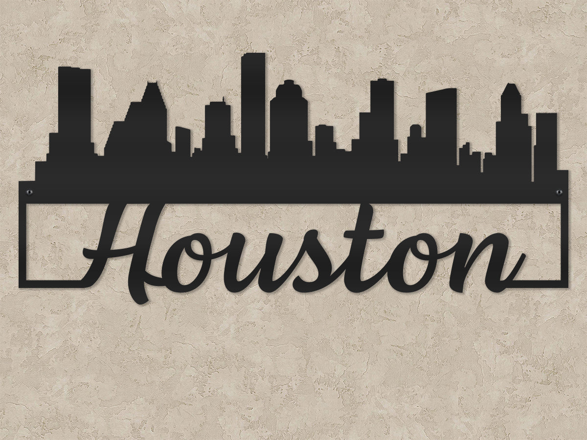 Houston City Skyline - Script Font