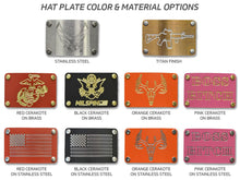 Great Seal of the United States Machined Metal Plate Hat