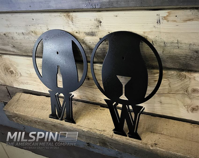 MILSPIN custom designed metal artwork