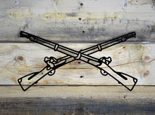 Milspin crossed rifle custom metal work