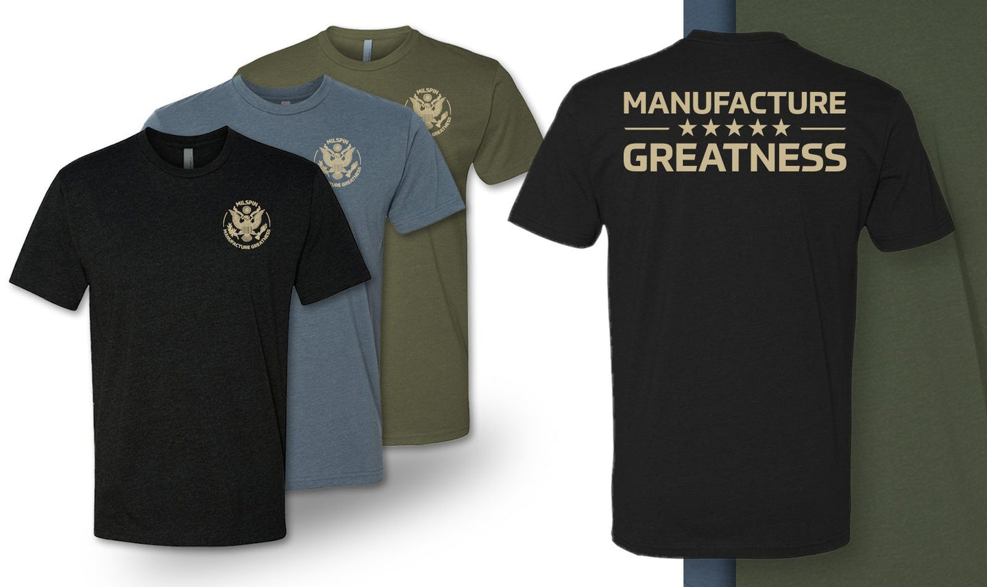 Milspin 'Manufacture Greatness' T-Shirt