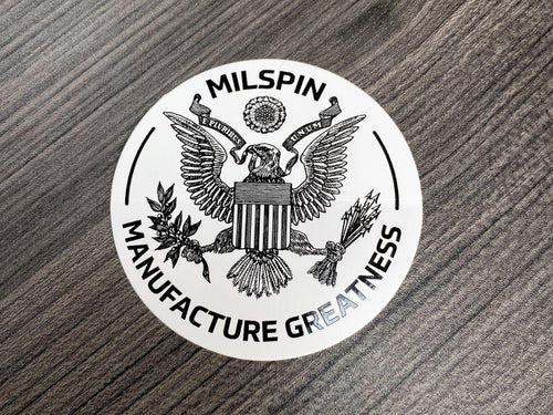 Milspin Manufacture Greatness Seal Decal
