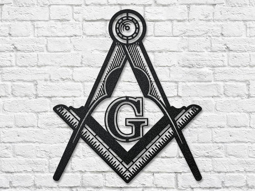 Masonic Emblem Steel Cut Out