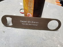 bottle opener that can be engraved with Navy insignia