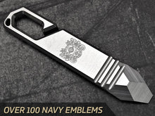 Milspin EDC Pry Bar NAVY Engravings (Over 100 Emblems)