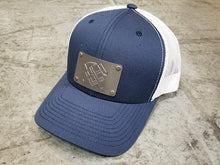 U.S. NAVY: Hat w/ Custom Engraved Metal Patch (Select 1 Emblem)