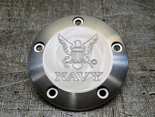 Harley Davidson custom engraved points covers with Navy insignia 01