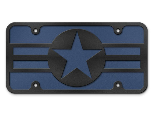 OLD Air Force Logo Steel Cut License Plate