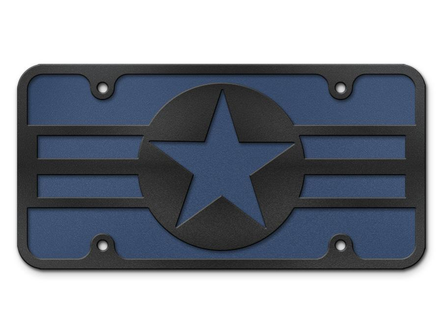 Milspin OLD Air Force Logo Steel Cut License Plate
