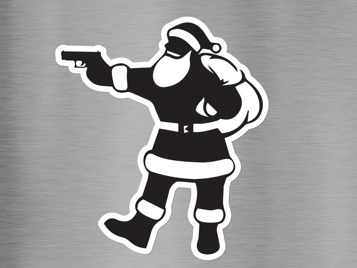 Pistol Santa Vinyl Decal