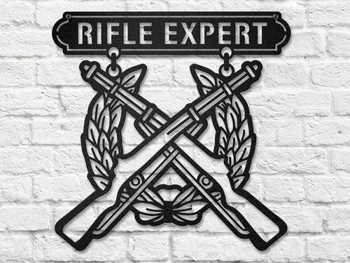 USMC Rifle Expert Steel Cut Out metal art
