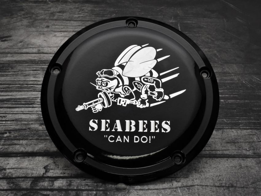 Navy SEABEEs Harley Davidson Derby Cover