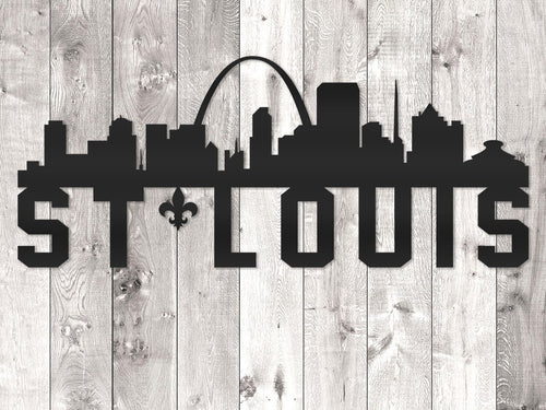 St. Louis City Skyline - Block Lettering