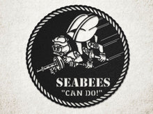 Milspin handcrafted SEABEES Metal Wall Art