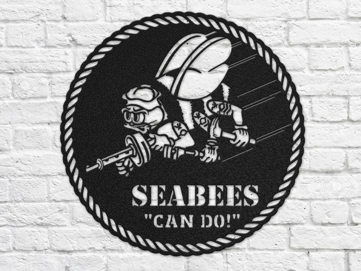 Milspin SEABEES Metal Wall Art