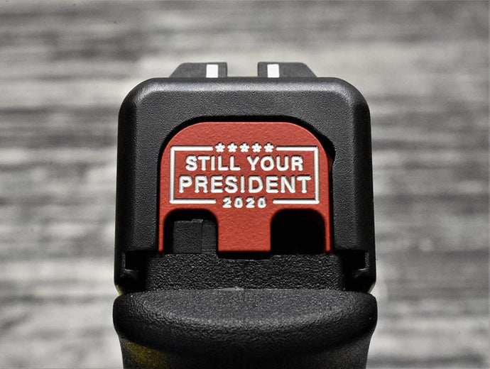 Milspin Still Your President Glock Slide Back Plate