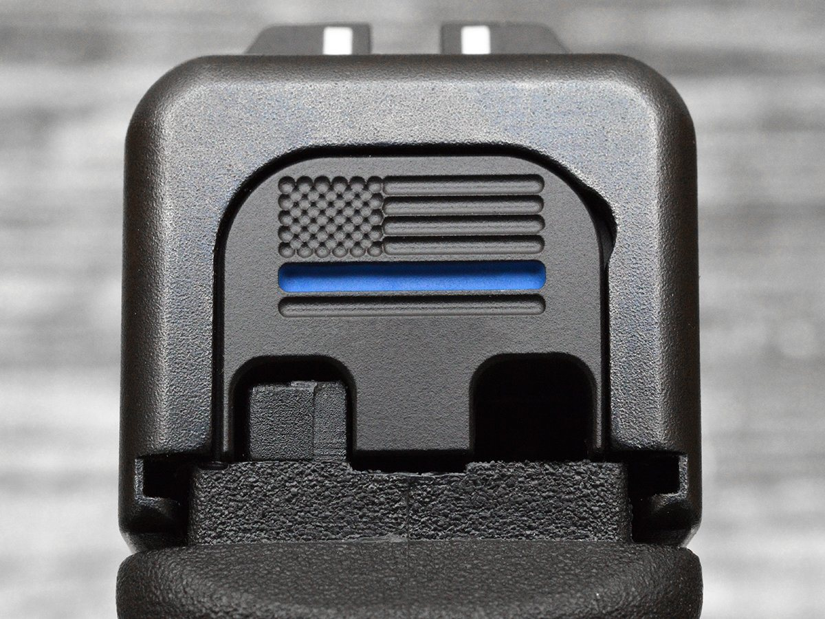 Milspin Personalized Thin Blue Line Flag Slide Back Plate