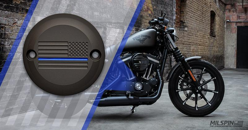 Thin Blue Line custom engraved Harley Davidson points cover