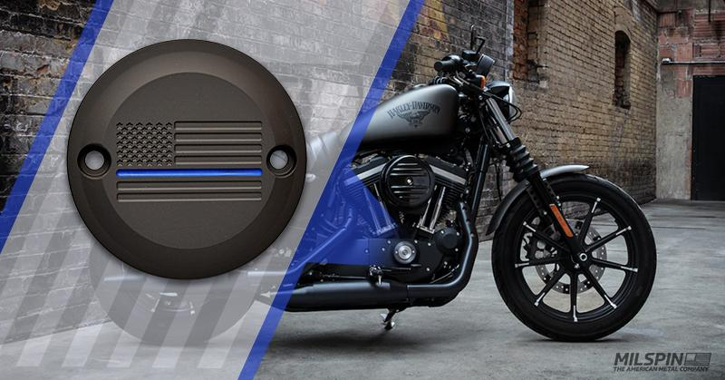 thin blue line Harley Davidson points cover