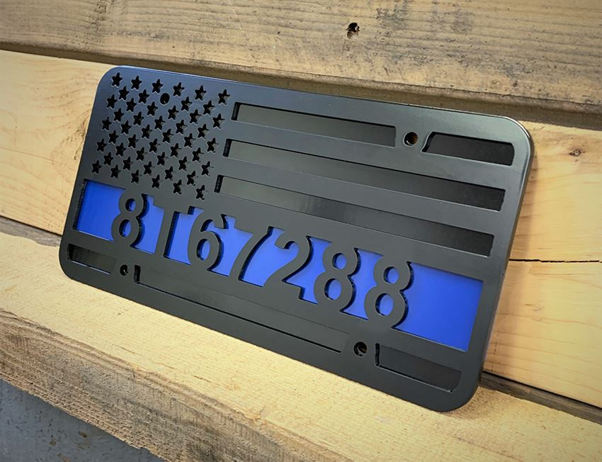 Custom Engraved License Plate Covers by MILSPIN
