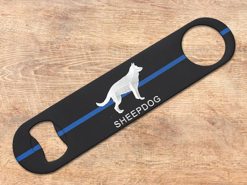 Thin Blue Line Sheepdog Bottle Opener