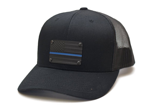 Thin Blue Line Steel Plated Snap-Back