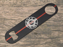 Thin Red Line IAFF Maltese Cross Bottle Opener