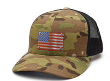 Tri Color American Flag Steel Plated Snap-Back