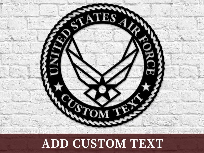 Milspin Custom Text USAF Steel Cut Out