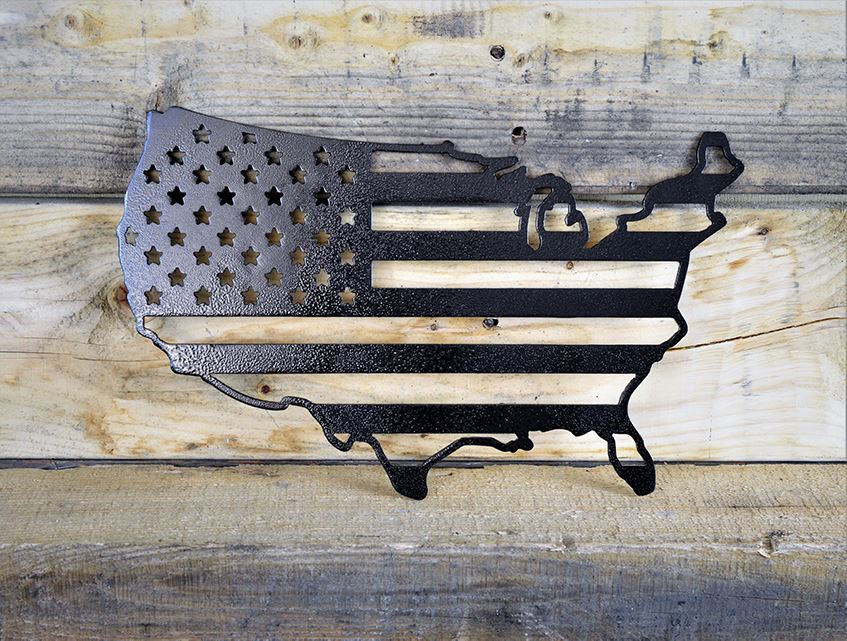 Milspin custom made American flag home decor metal wall art