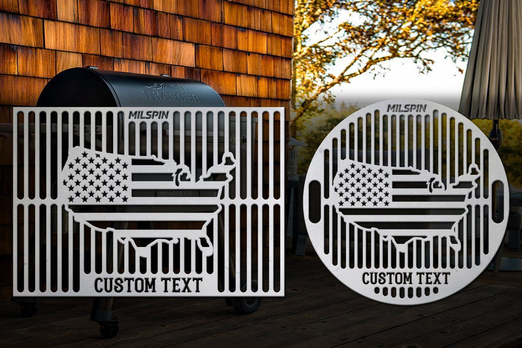 Milspin USA Flag Custom Grill Grate