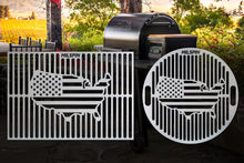 Milspin USA Flag Custom Engraved Grill Grate