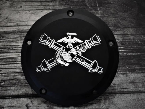 USMC Artillery Cross Cannons Harley Davidson Derby Cover