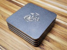 USMC engraved drink coasters