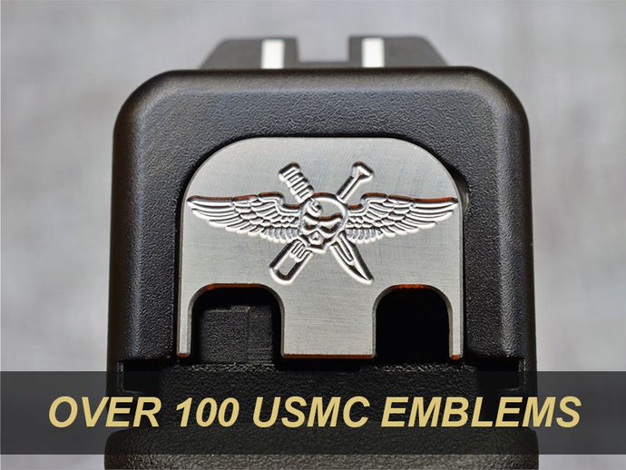back plates with USMC insignia