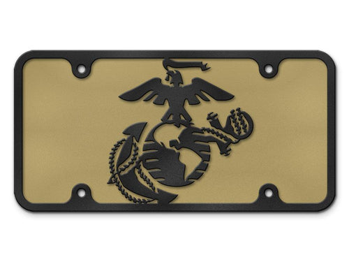 Milspin Marine Corps EGA Logo Steel Cut License Plate