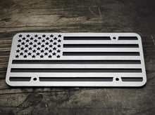 American Flag Steel Cut License Plate