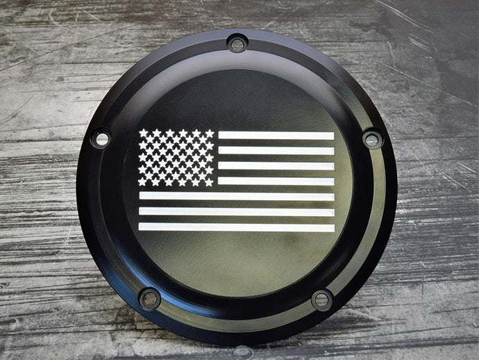 US Flag Harley Davidson Derby Cover