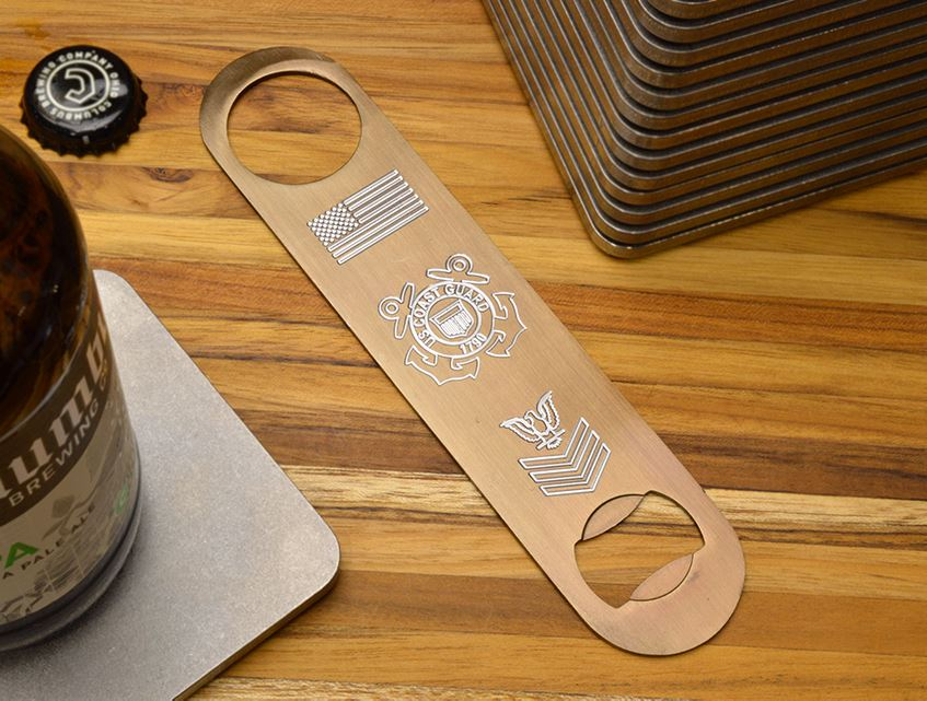 engraved bottle openers make the perfect gift for coast guard members