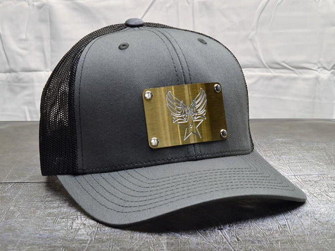 Milspin Army Air Corp Machined Metal Plate Hat